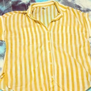 Lucky striped button up blouse